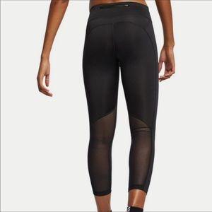 NWT Nike Fast DriFit Logo Mesh Crop Leggings Large